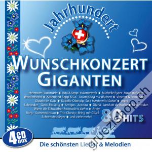 Wunschkonzert Giganten - Die schönsten Lieder & Melodien - 80 Hits