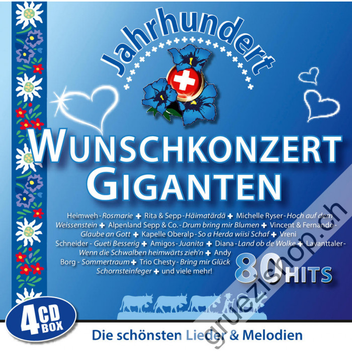 Diverse - Wunschkonzert Giganten - Die schönsten Lieder & Melodien - 80 Hits